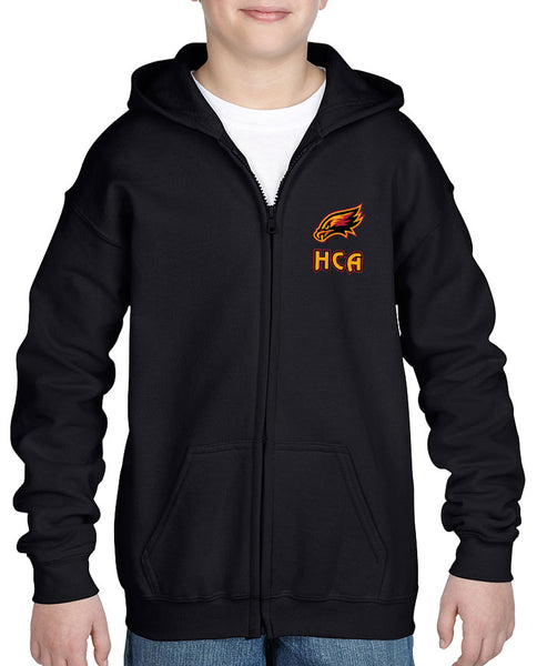 Hawks - Full zip up hoodie with embroidered crest - CHILD SIZE