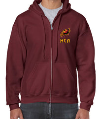 Hawks full zip up hoodie with embroidered crest - ADULT