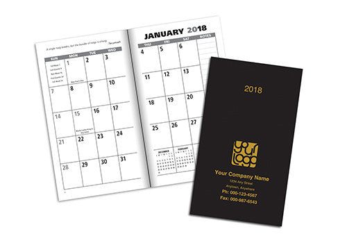 Leatherette Pocket Planner - Monthly