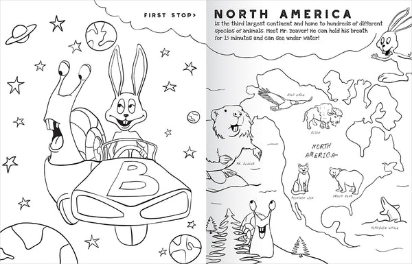 """The Wonderful World of Animals"" Coloring Book"
