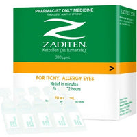 ZADITEN Single Dose Units Eye Drops 0.4ml 20