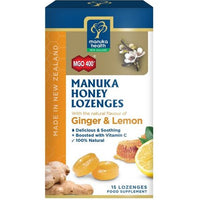 Manuka Health Manuka Honey Lozenges Lemon 15pk