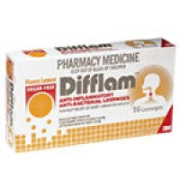 DIFFLAM Lemon& Honey Sugarfree Lozenges 16