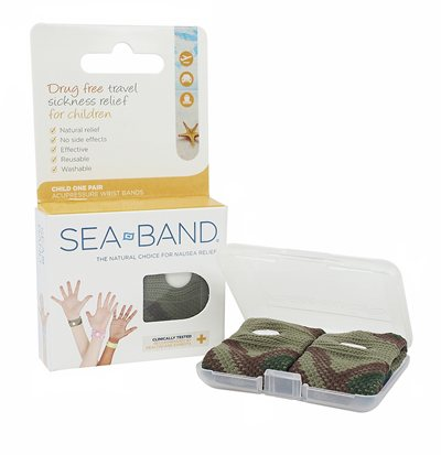 SEA BAND Camo Grn Child/S.Adult 1pr