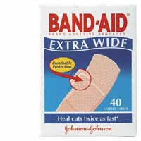 BANDAID Plastic Strip Extra Wide 40