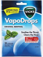 Vicks Vapodrops Original Menthol 24 Pack