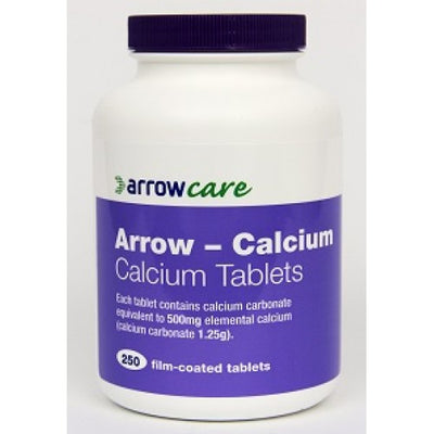 Arrow Calcium Carbonate 1.25g (500mg) Tablets 250