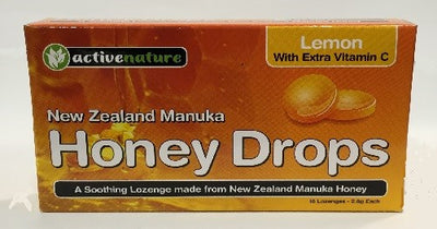AN Honey Drops Lemon + Vitamin C Lozenges 16
