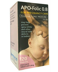 APO Folic Acid Tabs 0.8mg 120