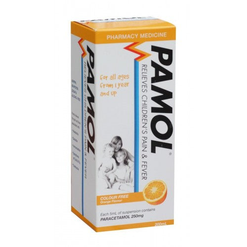 PAMOL All Ages Orange Colourfree 250mg/5ml 200ml