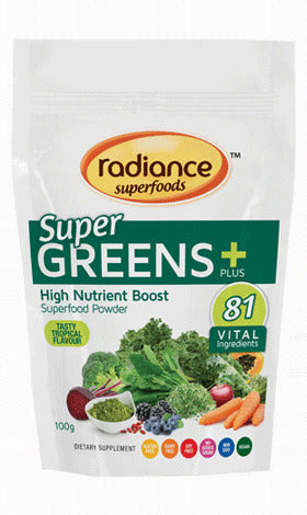 Radiance Super Greens Plus Powder 100g