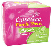 CareFree Panty Liners Barely There Aloe 42s