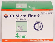BD Micro-Fine+Pen Needles 32gx4mm 100
