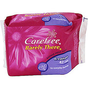 Carefree Panty Liners Barely There Breathable 42s