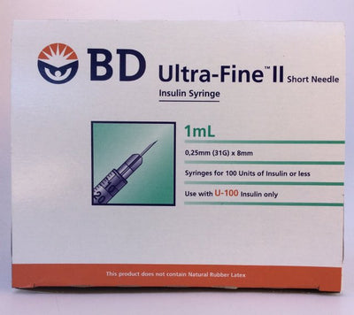 BD Syringe 1ml U/F 31gx8mm 100