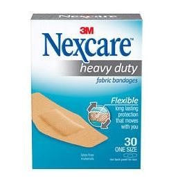 Nexcare Heavy Duty Fabric Bandage 1-Size 30