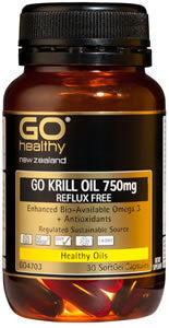 Go Healthy Krill Oil 750mg Reflux Free 30s