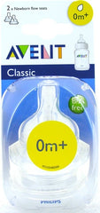 Avent Silicone Slow Flow Teat 2pk