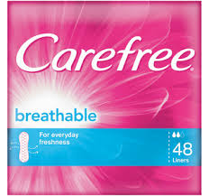 CAREFREE Panty Liners Breathable 48s