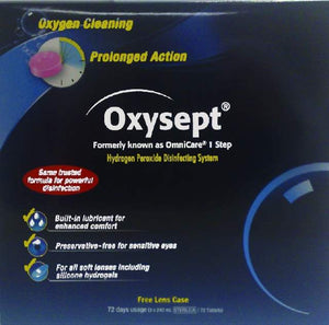 OXYSEPT Tabs 72 3X240ml & Lens Case