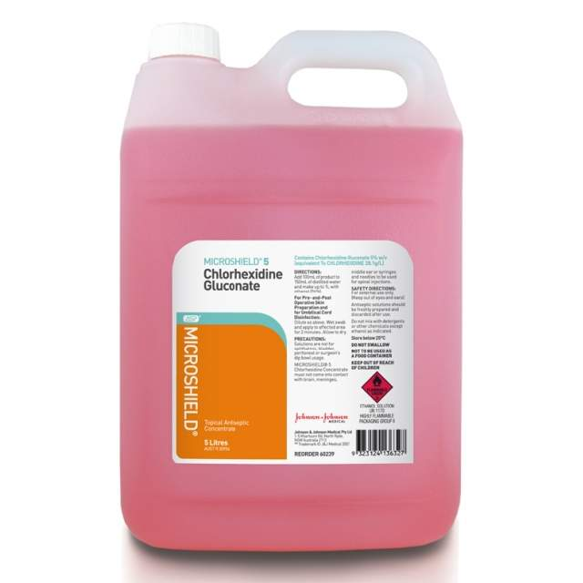 Chlorhexidine 5% Concentrate 5Litres MICROSHIELD