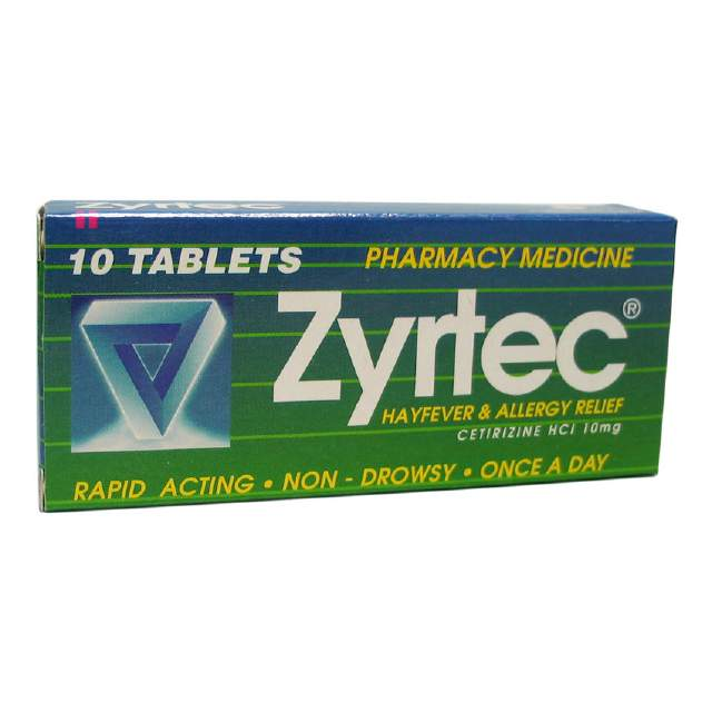 Zrytec Allergy & Hayfever Relief Tablets 10s