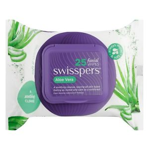 SWISSPERS Aloe Facial Wipes 25s