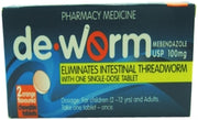DE-WORM Pkt of 2 tabs