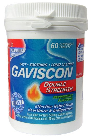 Gaviscon Double Strength Peppermint Chewables 60s