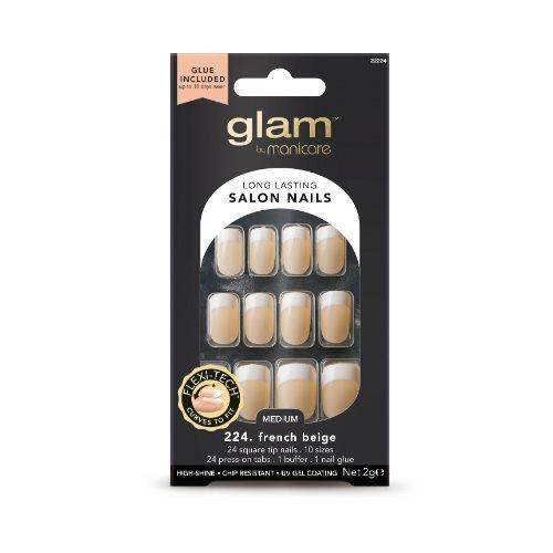 MANICARE Glam Glue On Nail French Beige 20