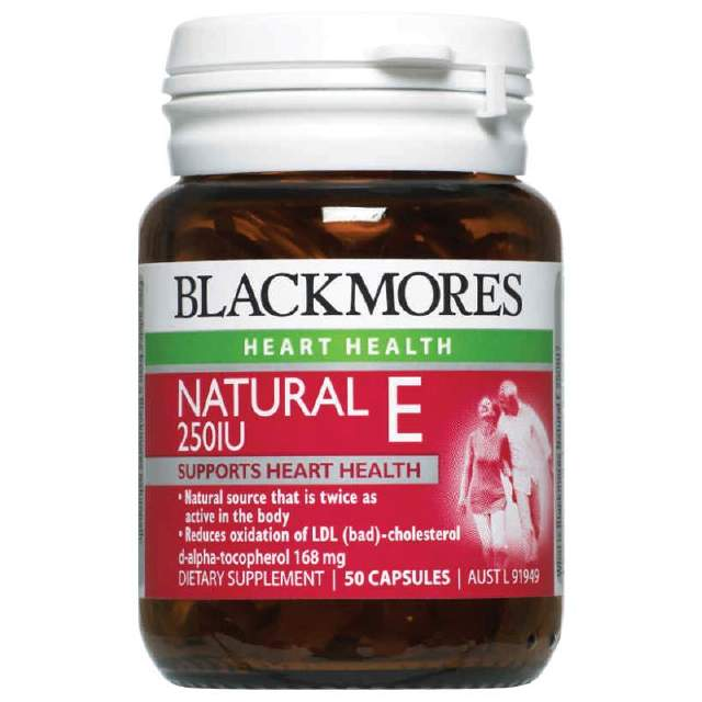 Blackmores Vitamin E Caps 250IU 50