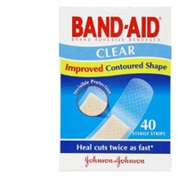 BandAid Clear Strips 40s