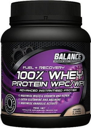 BALANCE FUEL&RECOVR 100% WHEY COOKIE &CREAM 750G