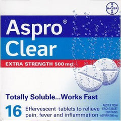 ASPRO Clear Extra Str. 500mg 16s
