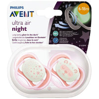 AVENT Soother Ultra Air Night 6-18m 2pk