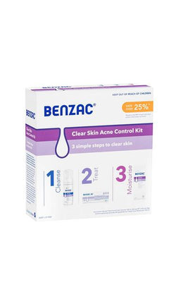 BENZAC Clear Acne Kit 4pc