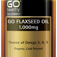 GO Healthy Flaxseed Oil 1000mg Organic 440 Capsules