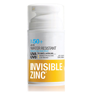 Invisible Zinc 4Hr Water Resistant SPF50+ 50ml
