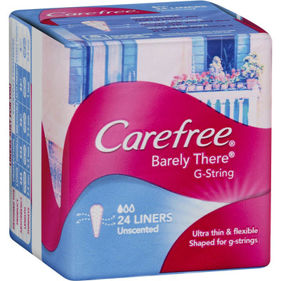 CareFree Panty Liner Barely There G-String 24