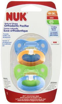 Nuk Latex Soother Size 3 Colour 2pk