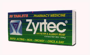 Zyrtec Allergy & Hayfever Relief Tablets 30s