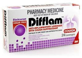 DIFFLAM Blackcurrant Sugarfree Cough Lozenges 24
