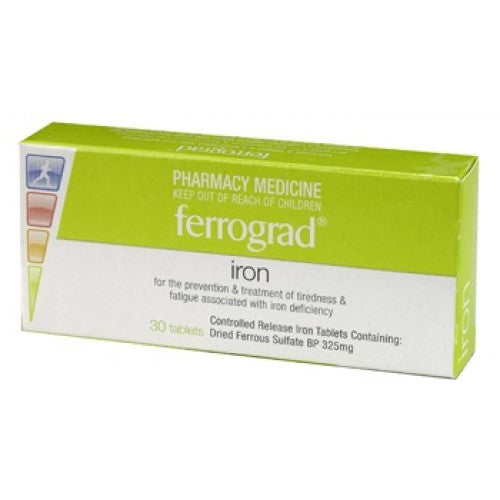 Ferrograd 325mg Iron 30s