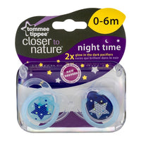 Closer To Nature Night Time Soother 0-6M 2pk
