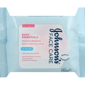 J&J DAILY Essential FACIAL WIPES CLEAR SKIN 25