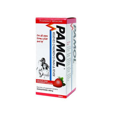 PAMOL All Ages Strawberry Colourfree 250mg/5ml 100ml