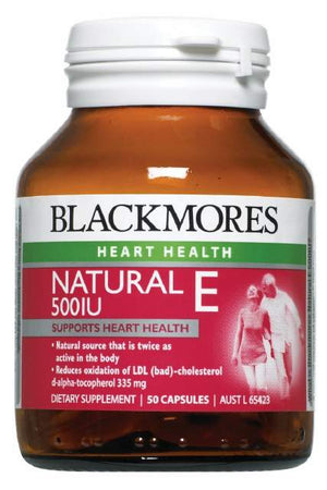 Blackmores Vitamin E Caps 500IU 50