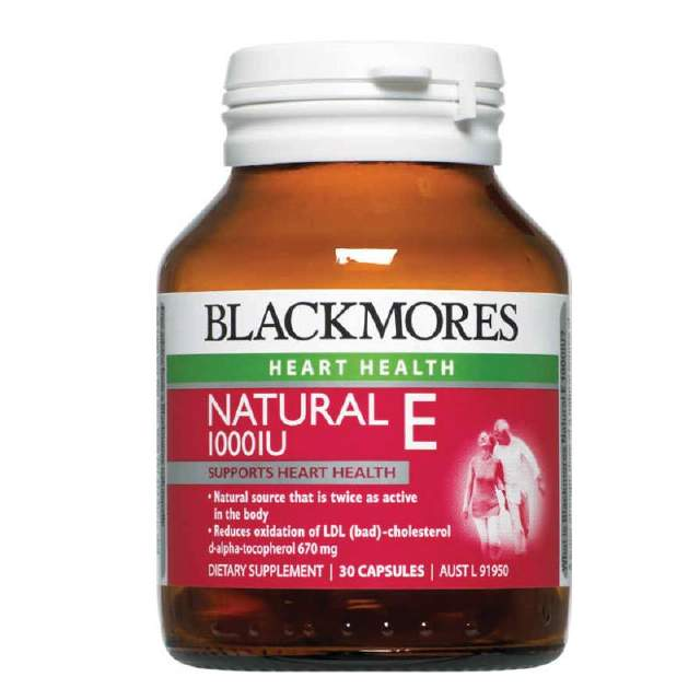 Blackmores Vitamin E Caps 1000IU 30