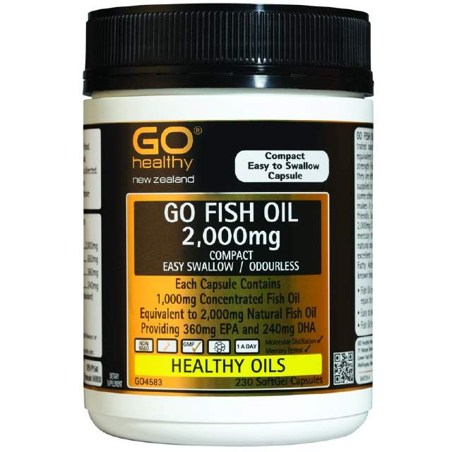 Go Healthy Fish Oil 2000mg Odourless 230s
