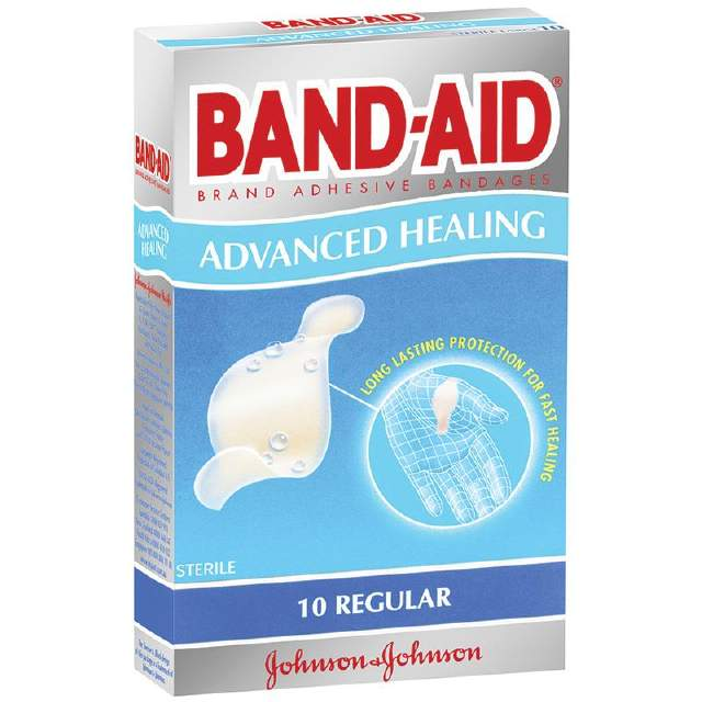 Bandaid Advanced Healing Plasters Regular 10pk